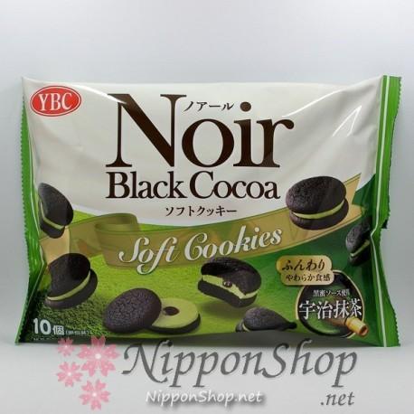 YBC Noir Black Cocoa Soft Cookies - Uji Matcha