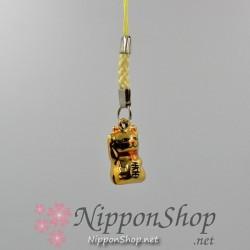 Manekineko Anhänger - Gold