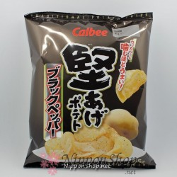 Calbee Kataage Potato Chips - Black Pepper