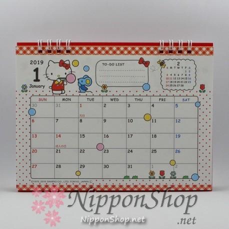 Hello Kitty Tischkalender 2019
