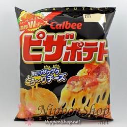 Calbee Pizza Potato Chips - W Cheese