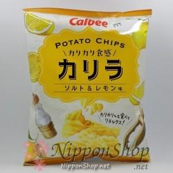 Calbee Karira Kartoffelchips - Salz & Zitrone