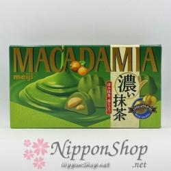 meiji MACADAMIA Koi Matcha chocolates