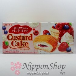 Custard Cake - Berry & whipped cream Pancake