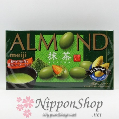 meiji ALMOND chocolates - MATCHA