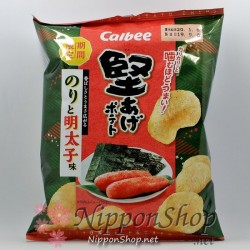 Calbee Kataage Potato Chips - Nori & Mentaiko