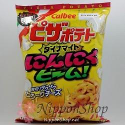 Calbee Pizza Potato Chips - Dynamite Ninniku Beam
