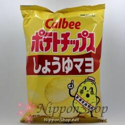 Calbee Kartoffelchips - Shoyu Mayo