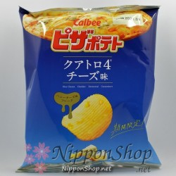 Calbee Pizza Potato Chips - Quattro4 Cheese