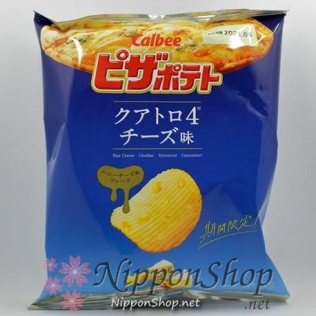 Calbee Pizza Potato Chips - Quattro4 Cheese
