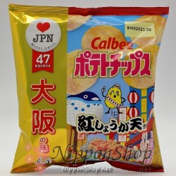 Calbee Potato Chips - Osaka Beni Shoga Ten