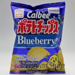 Calbee Potato Chips - Blueberry Gum