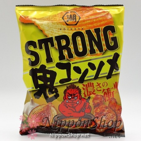 Koikeya Potato Chips - STRONG Oni Consomme