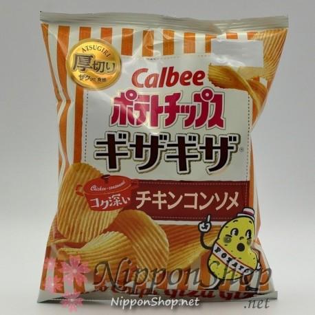 Calbee GizaGiza Potato Chips - Chicken Consommé