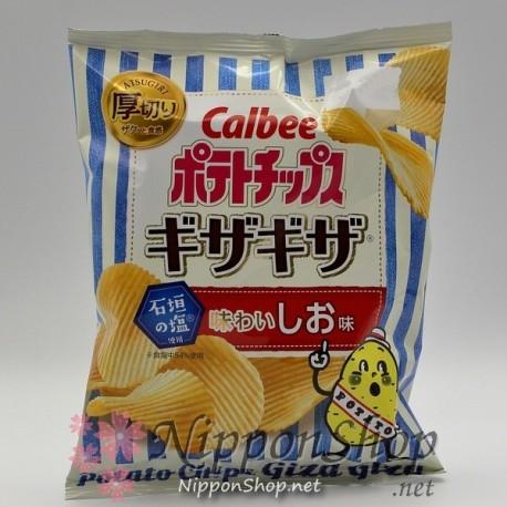 Calbee GizaGiza Potato Chips - Shio