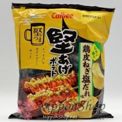 Calbee Kataage Potato Chips - Torikawa Negi Shio Dare