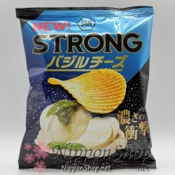 Koikeya Potato Chips STRONG - Basil Cheese