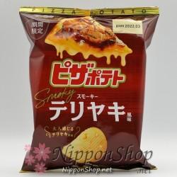 Calbee Pizza Potato Chips - Smoky Teriyaki